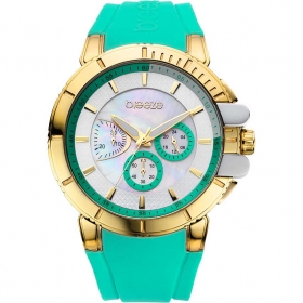Breeze 3D Shadow Chrono Green Rubber Strap