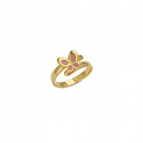 Gold-Plated Sterling Silver Butterfly Ring