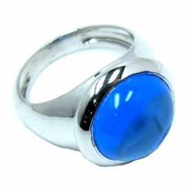 Silver 925 Chevalier Ring with Stone